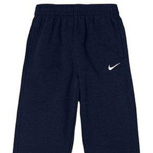 Nike N45 Core Fleece Pants, Black/White, Size 7